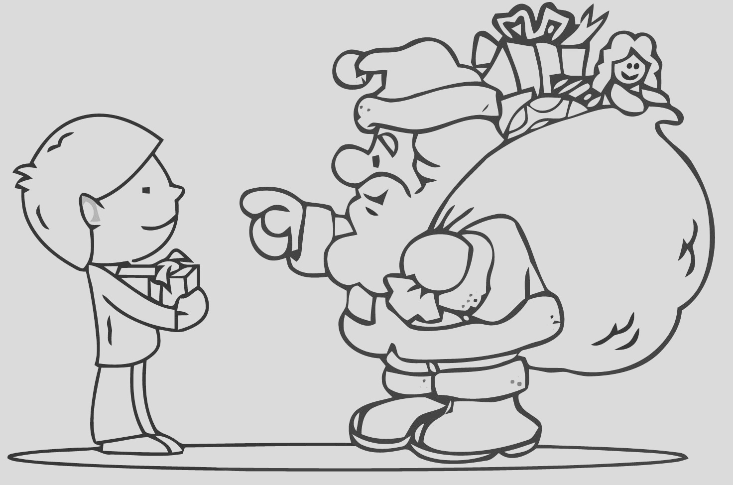 free christmas colouring pages for