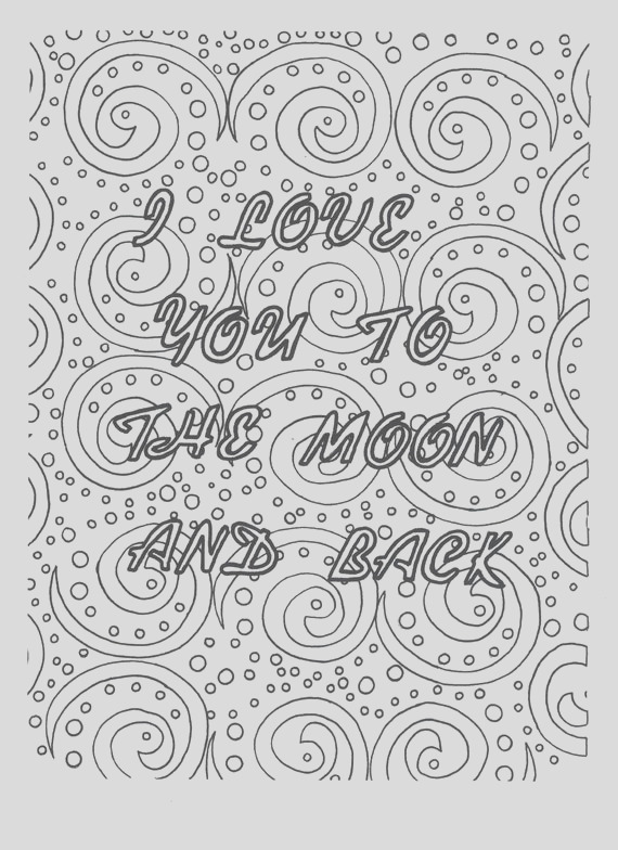 i love you to the moon and back coloring