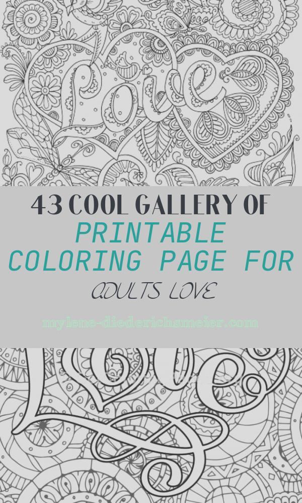 Printable Coloring Page for Adults Love Awesome Love In Details Printable Adult Coloring Page From