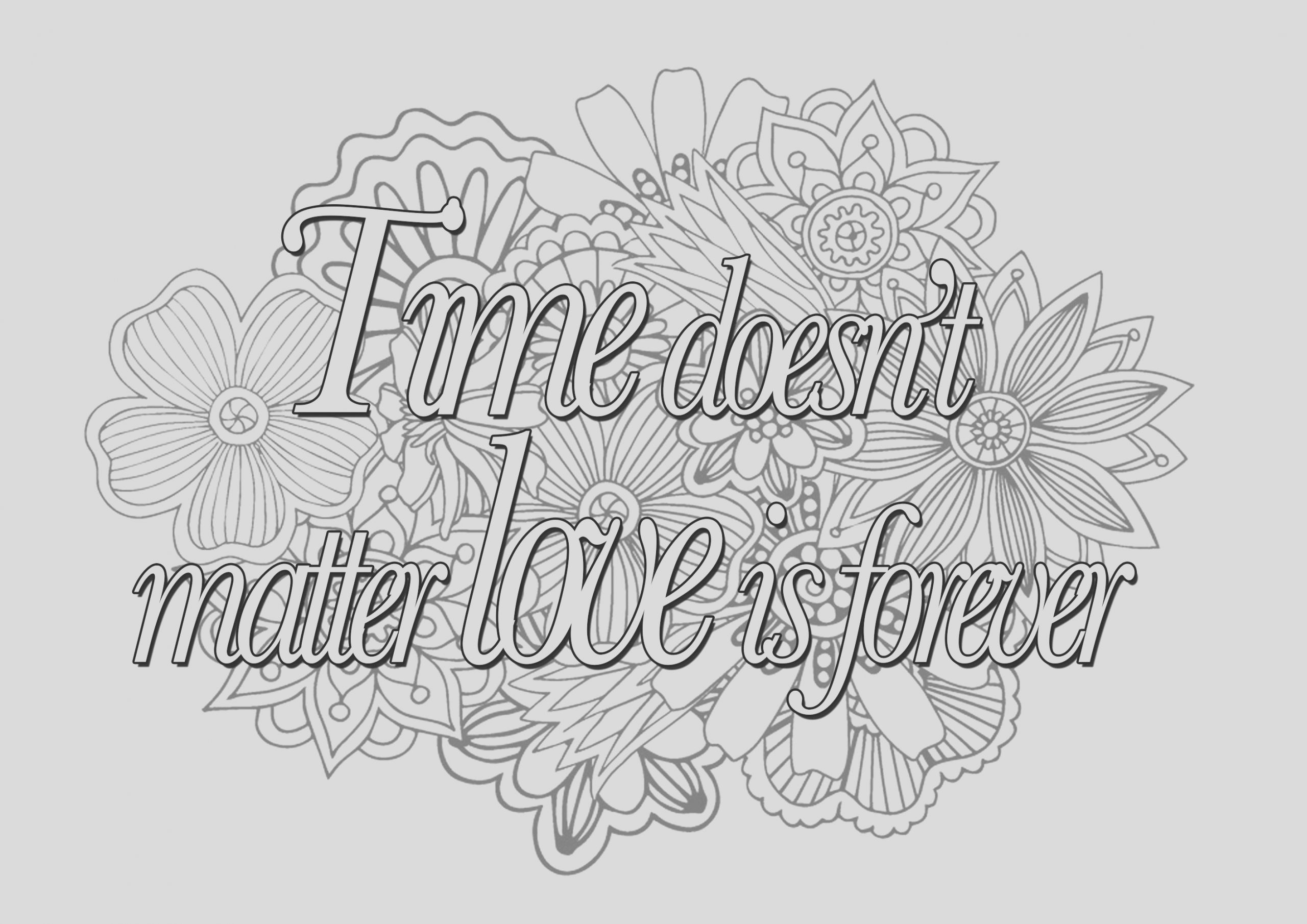 quotes image=quotes coloring quote time doesnt matter love is forever 1