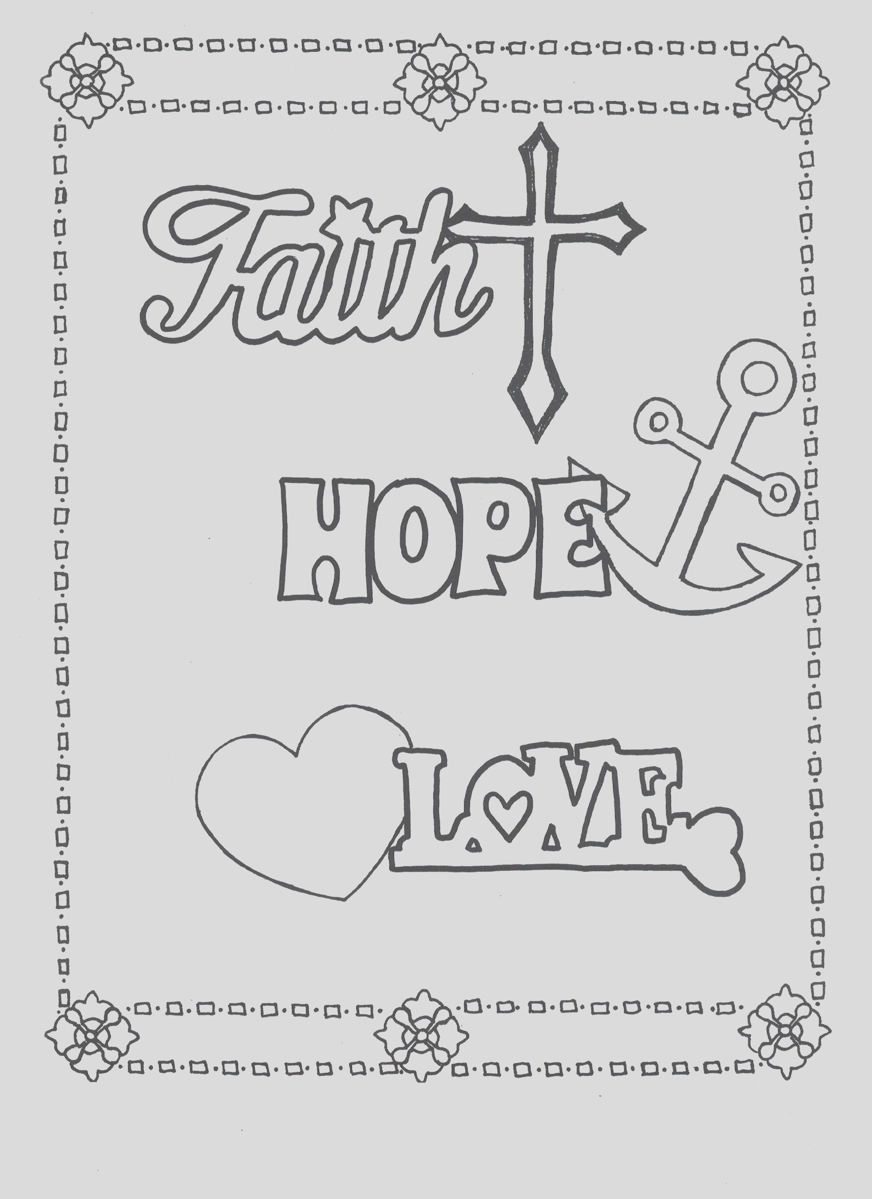 hope coloring pages