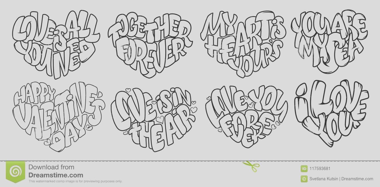 coloring pages adult design wedding invitations valentine s day lettering heart quote love vector book bubble image