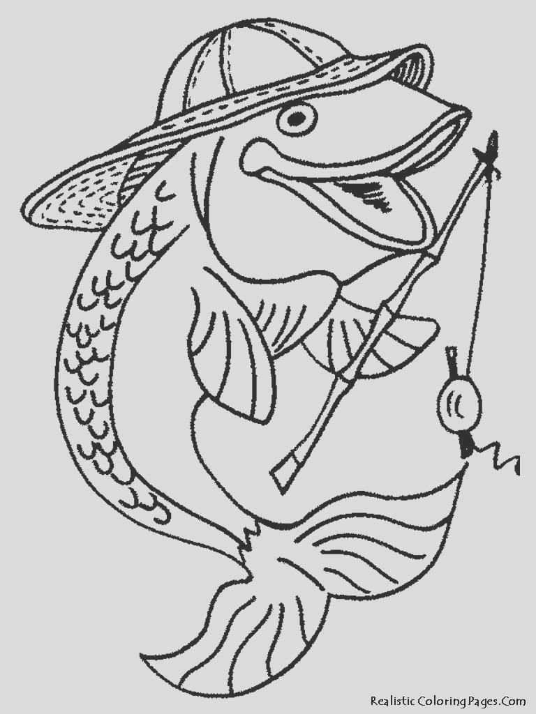 realistic fish coloring pages