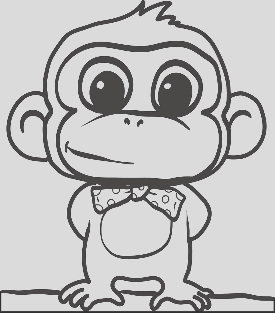 cartoon monkey coloring page 2 a4548