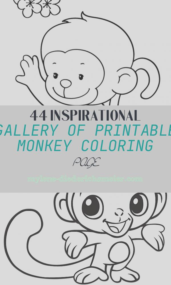 Printable Monkey Coloring Page Lovely top 25 Free Printable Monkey Coloring Pages for Kids