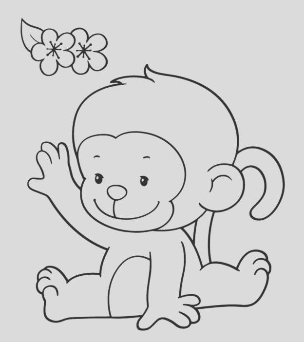 cute monkey coloring pages your toddler will love