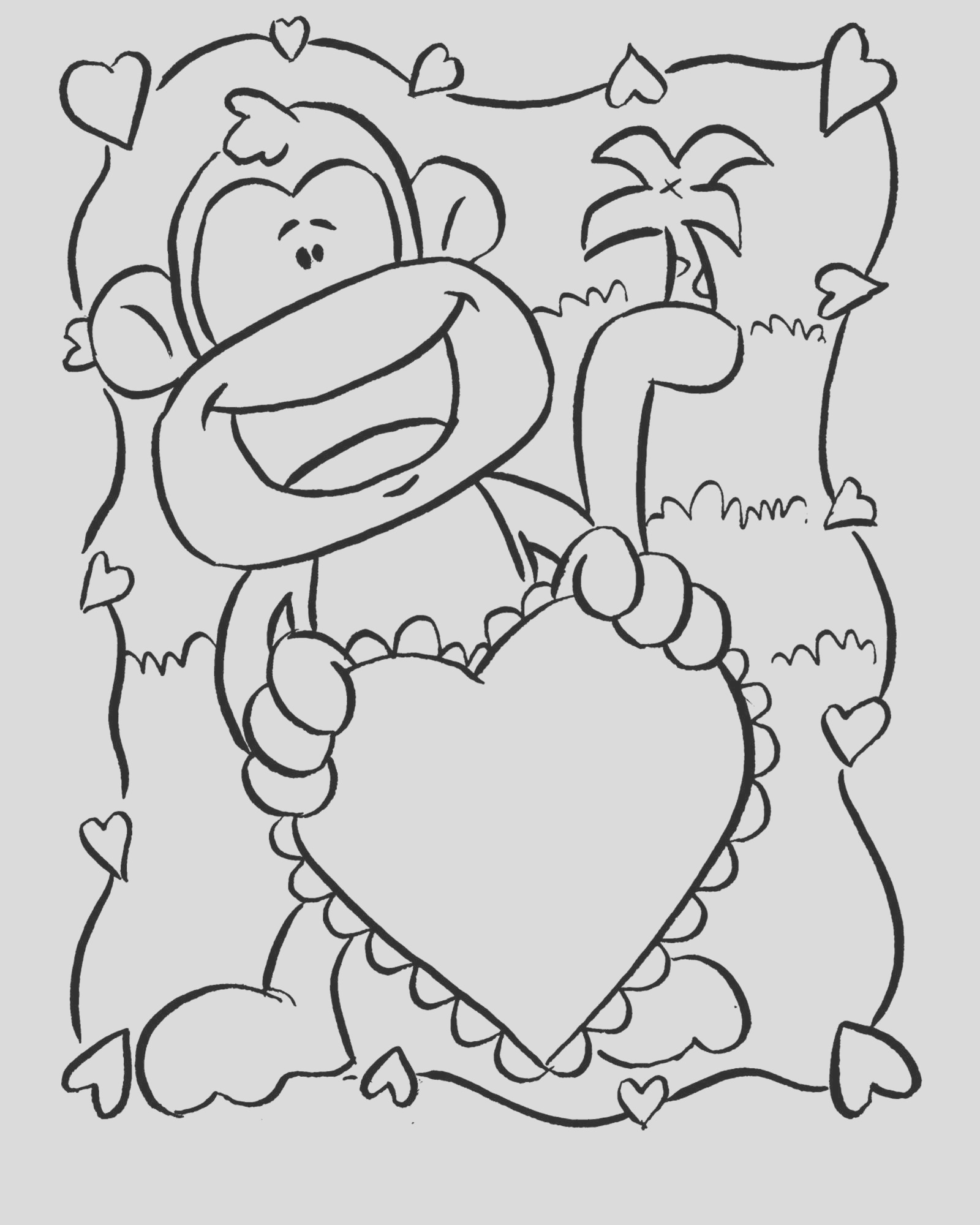 monkey coloring pages monkey coloring page 15 printable coloring pages