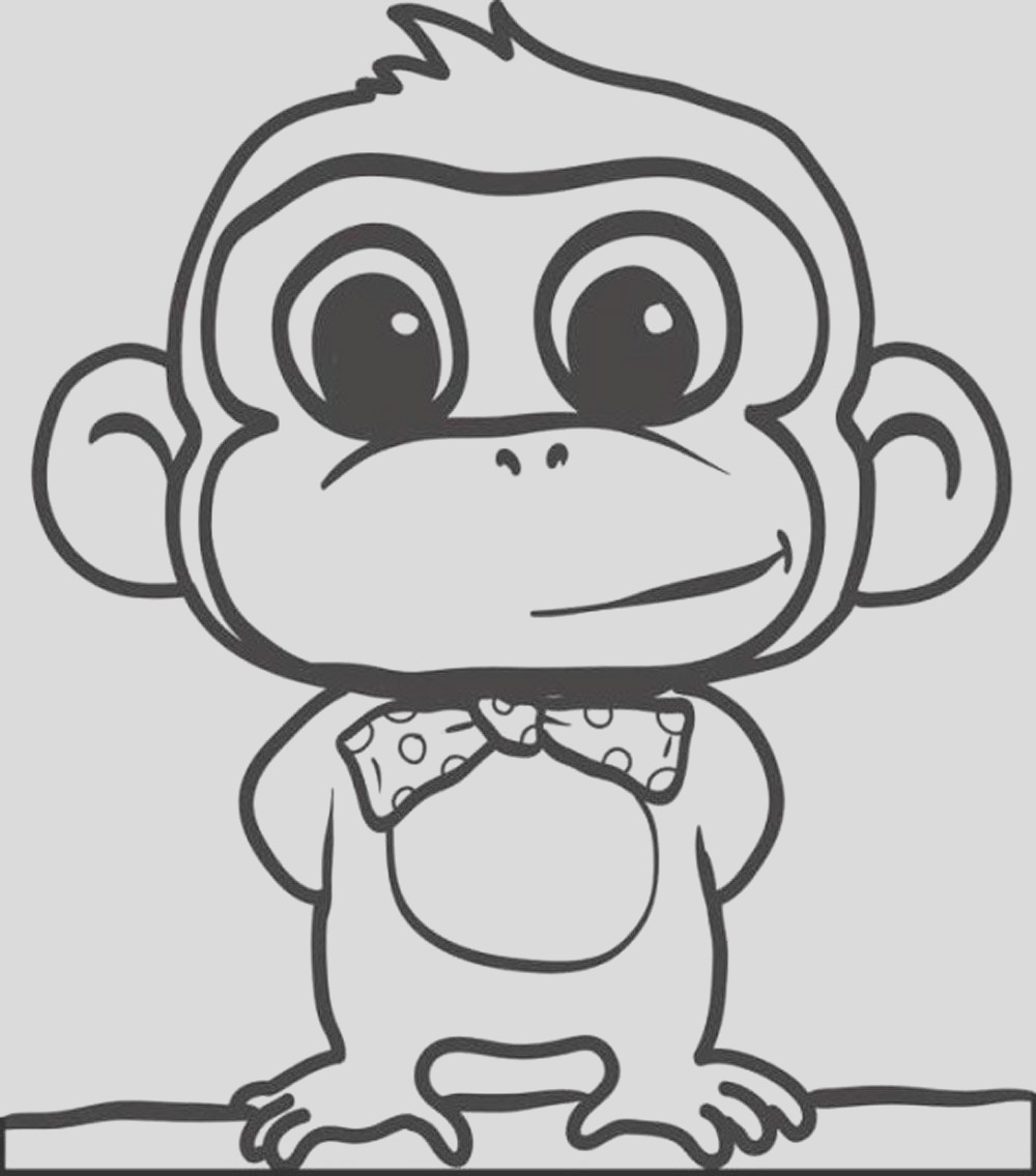 coloring monkey head monkey coloring pages