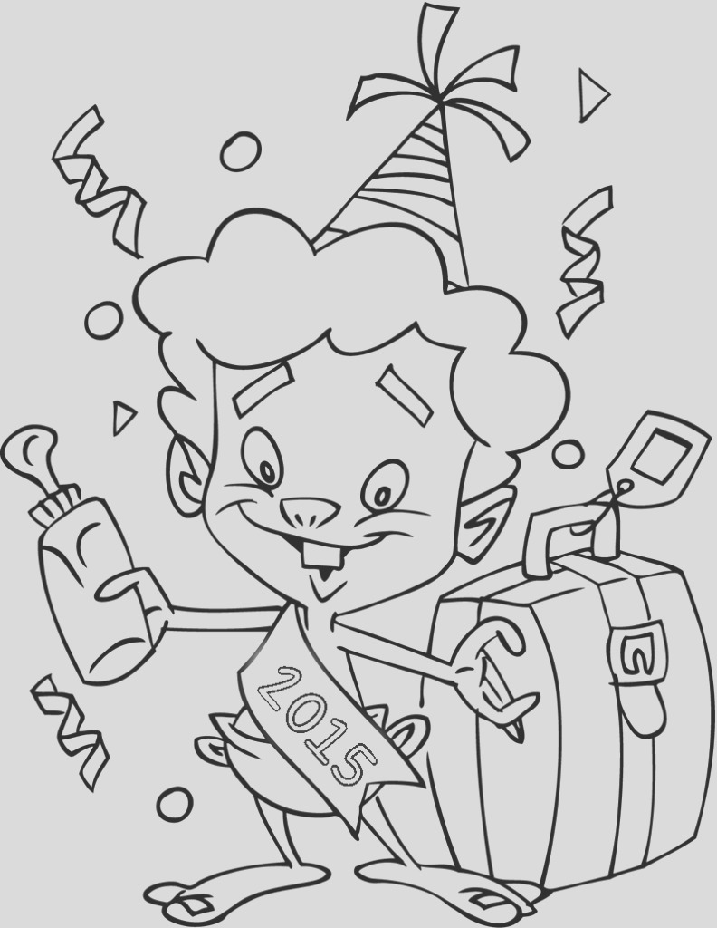 happy new years 2015 coloring pages printable