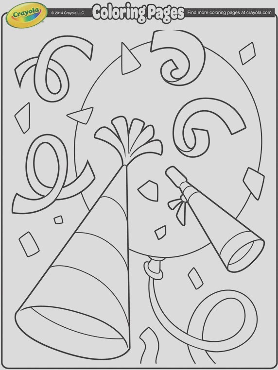 new years confetti coloring page