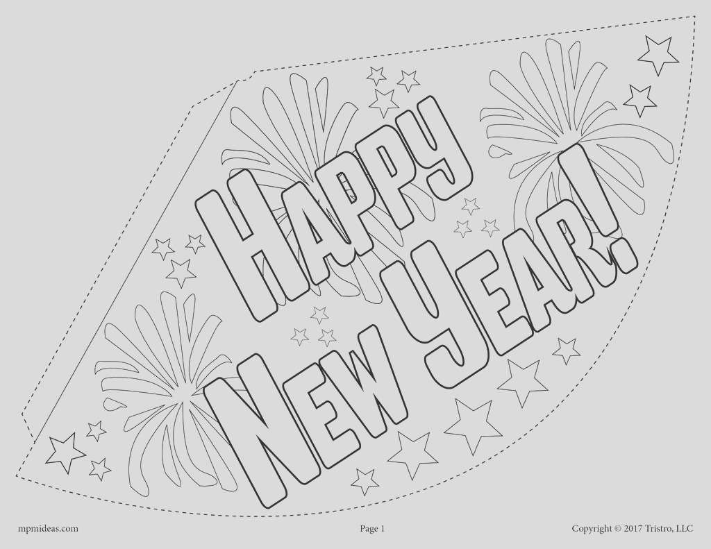 free printable new years party hat activity 3 versions a7433