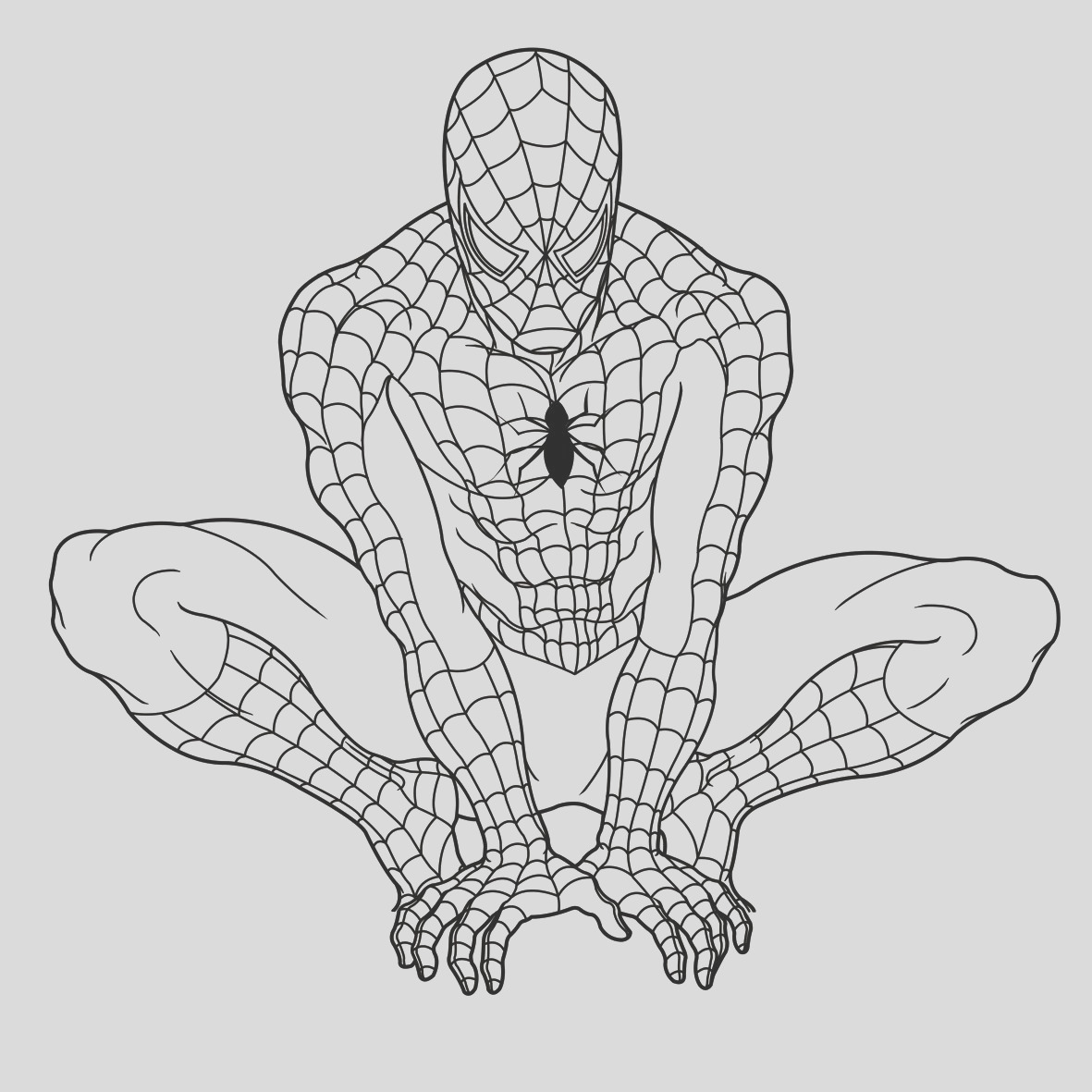 spiderman coloring page free printable sheets for kids6