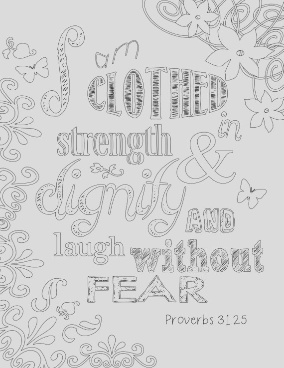 proverbs 31 coloring page