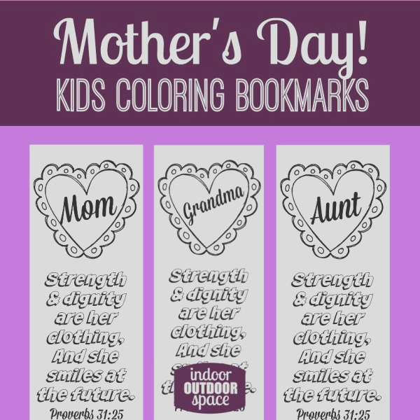 mothers day scripture coloring bookmarks