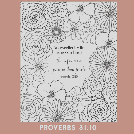 bible verse coloring page proverbs 31