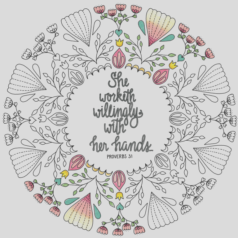 proverbs 31 coloring page 23