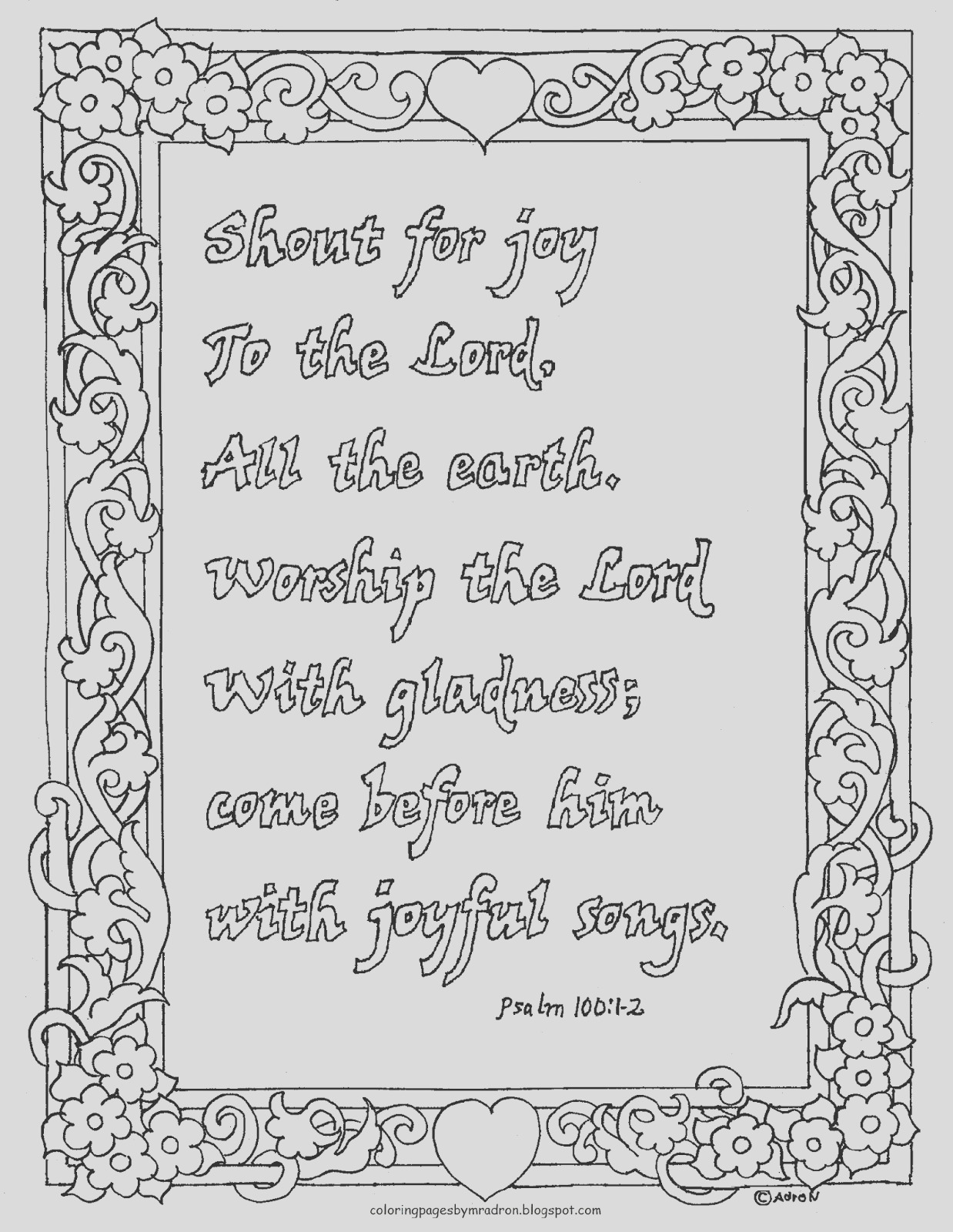 coloring page psalm 1001 2 printable