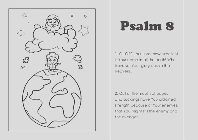coloring pages psalm 8