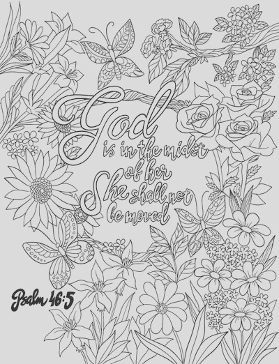 psalm 46 5 coloring page