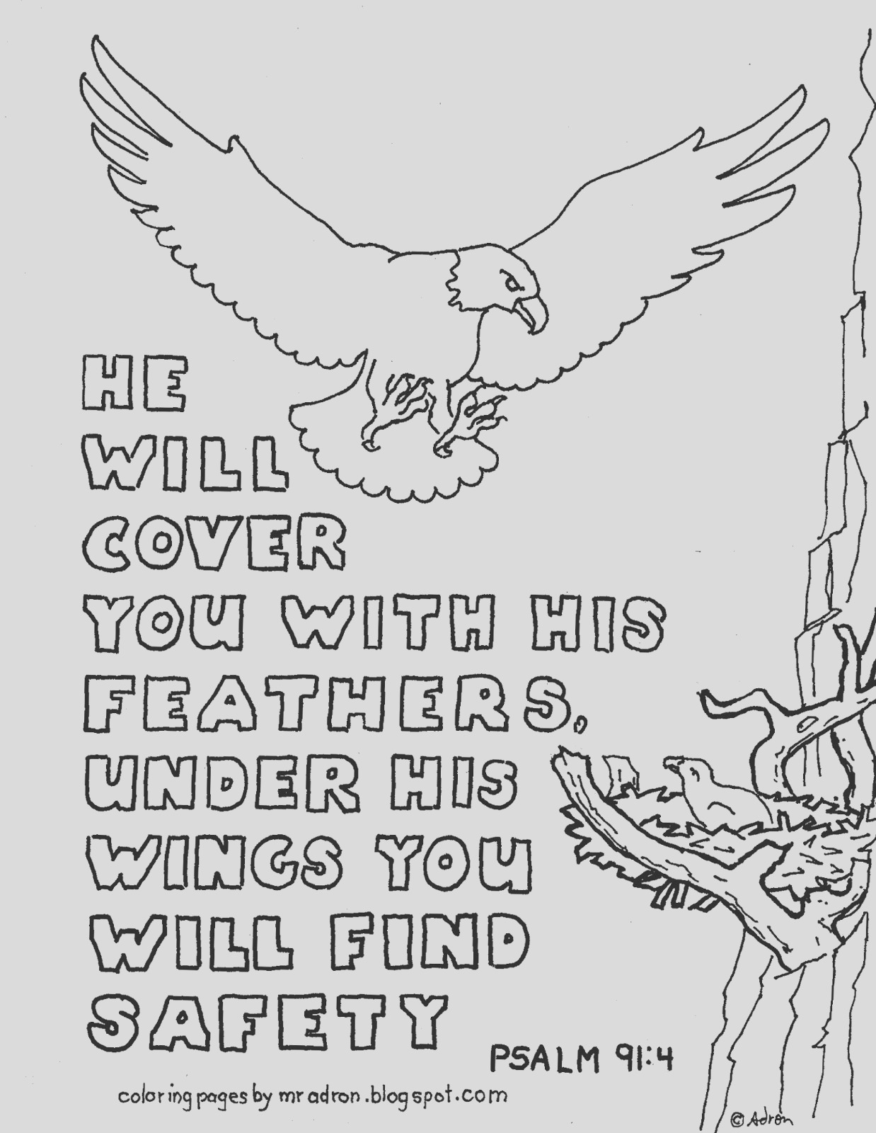 printable coloring page psalm 914 he