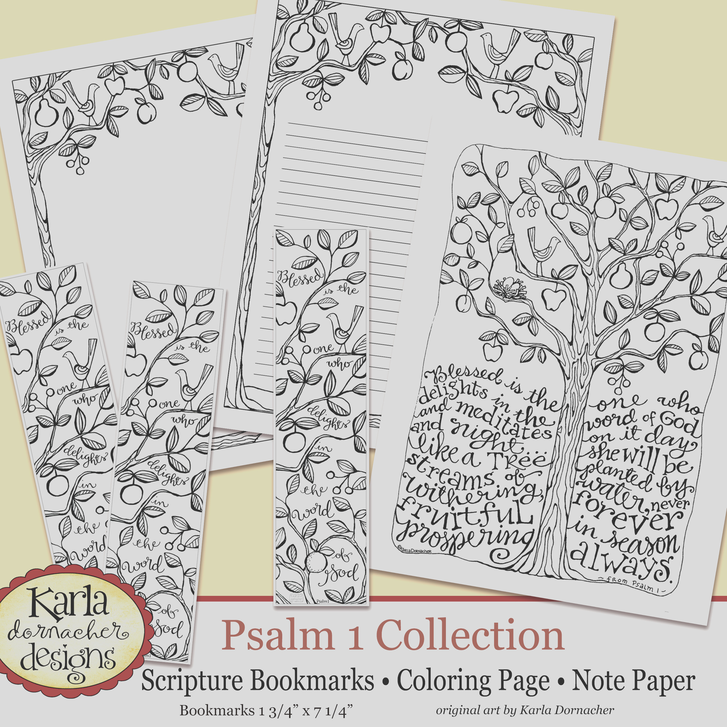 psalm 1 be like a tree coloring page