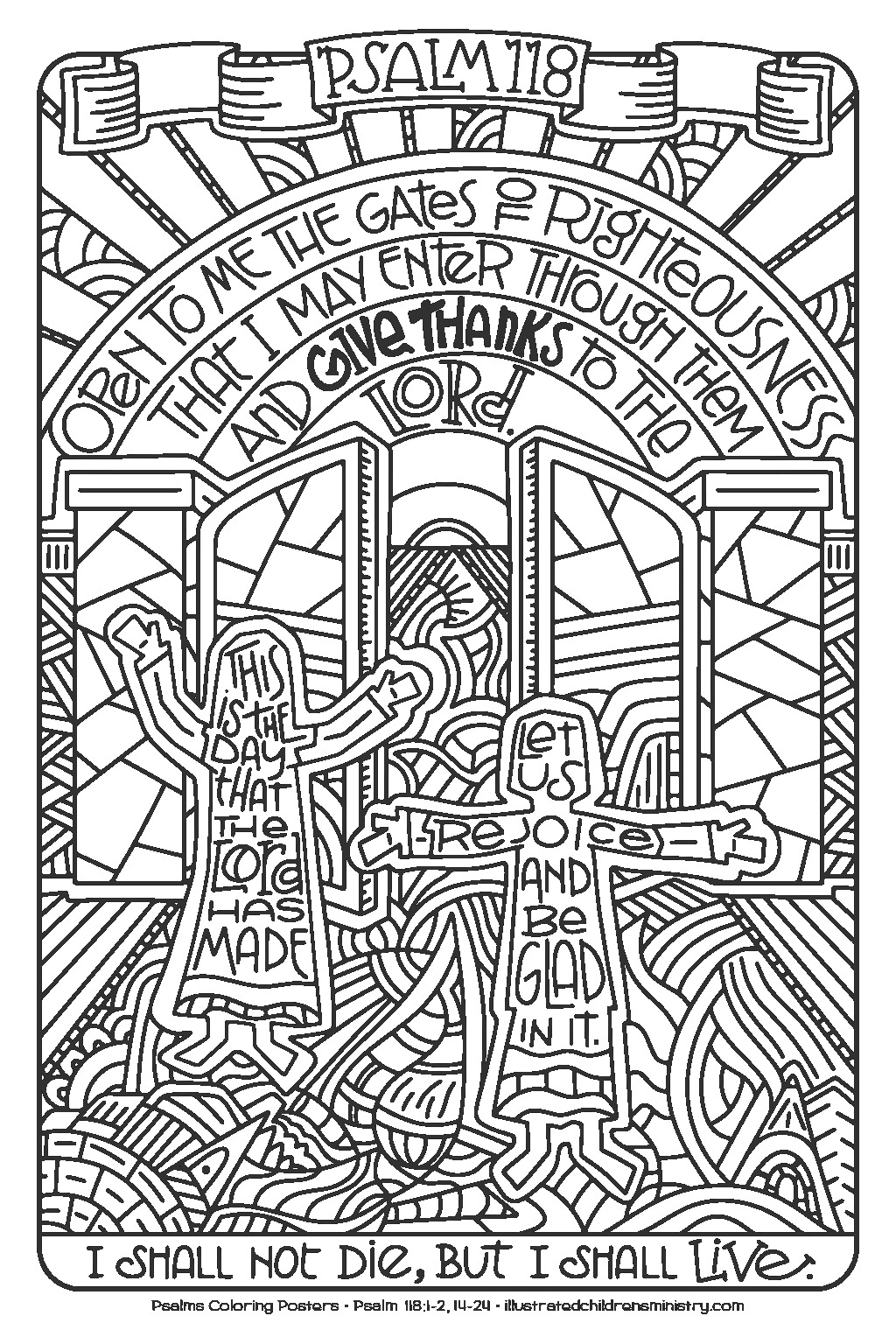 psalms coloring pages 8 5x11