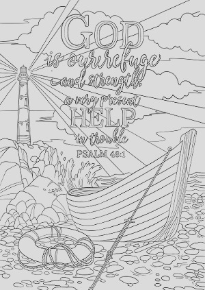 psalm 46 1 coloring page