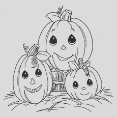 cute halloween pumpkin coloring pages toddler will love color
