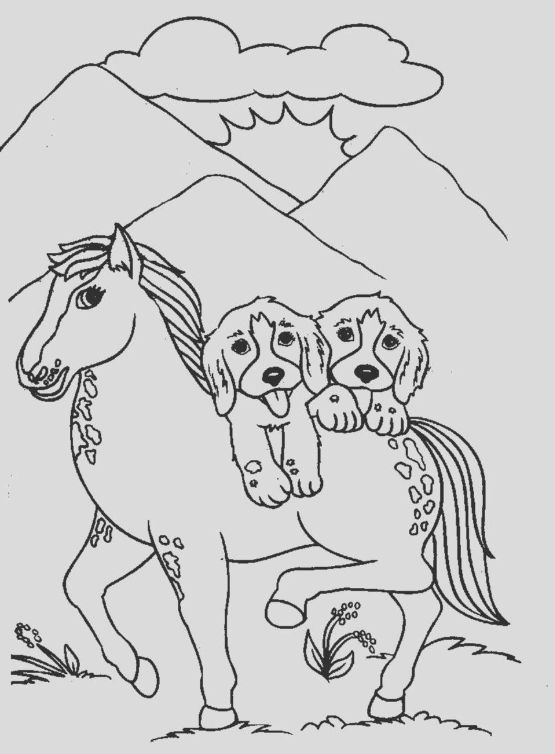 labrador with puppies coloring pages