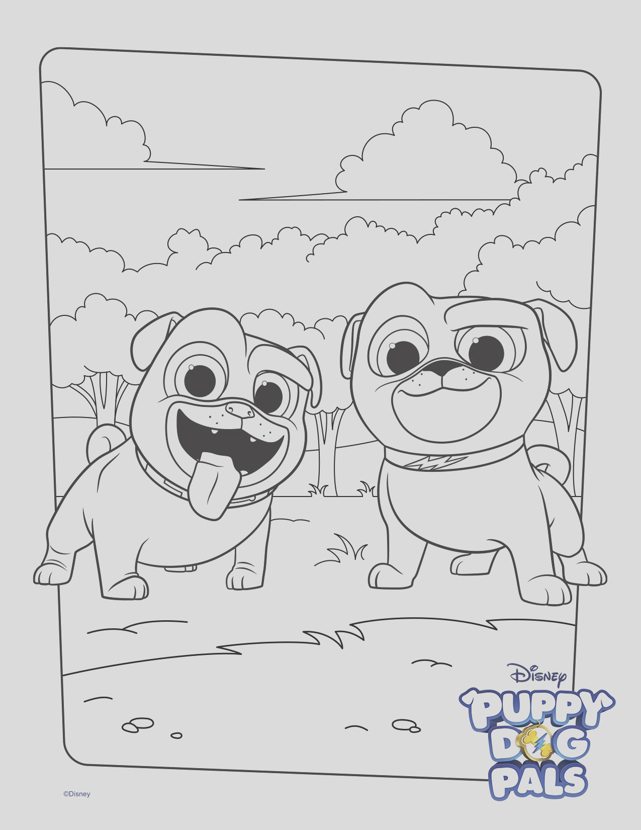 bingo and rolly coloring page