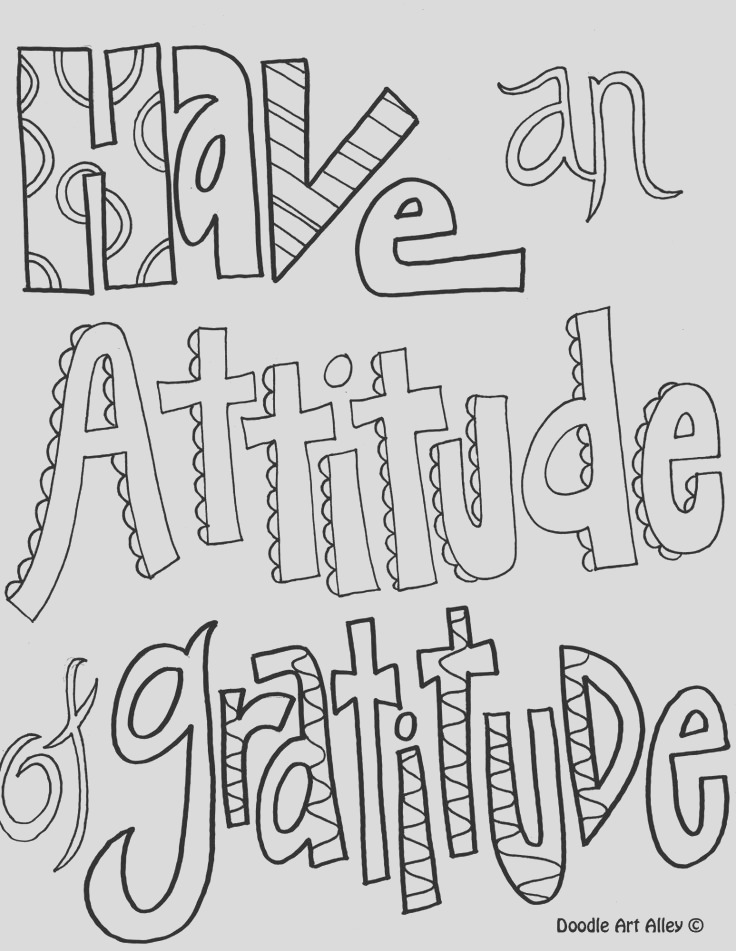 printable doodle quotes to color