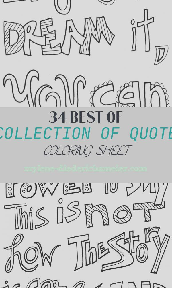 Quote Coloring Sheet Elegant Quote Coloring Pages Doodle Art Alley