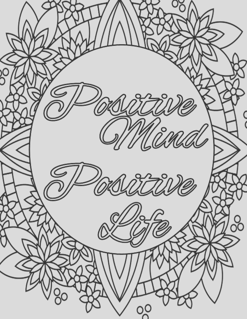 inspirational quote coloring page to