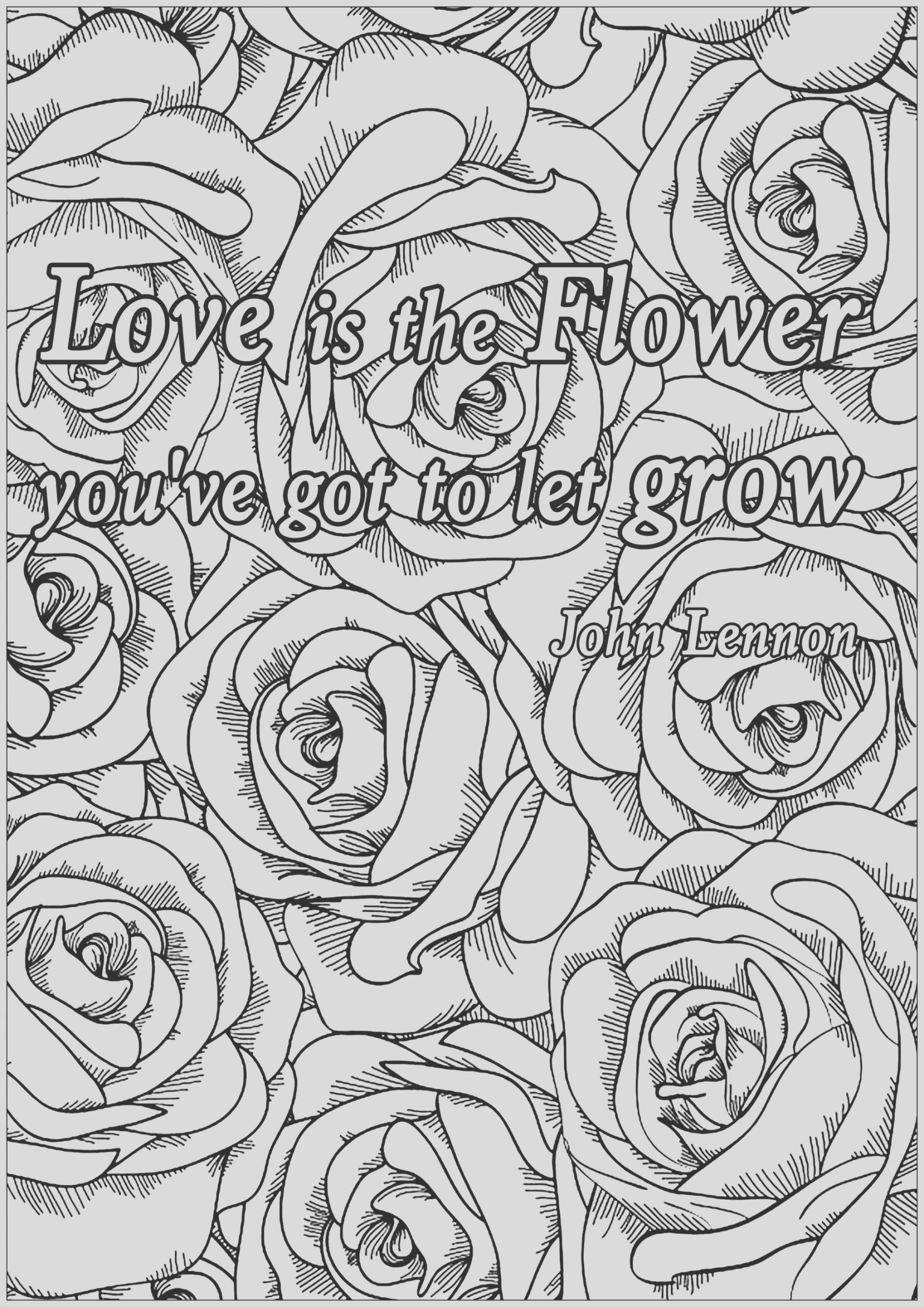 quotes image=quotes coloring love is the flower 1