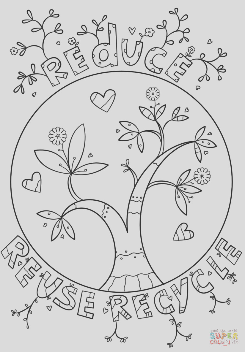 reduce reuse recycle doodle