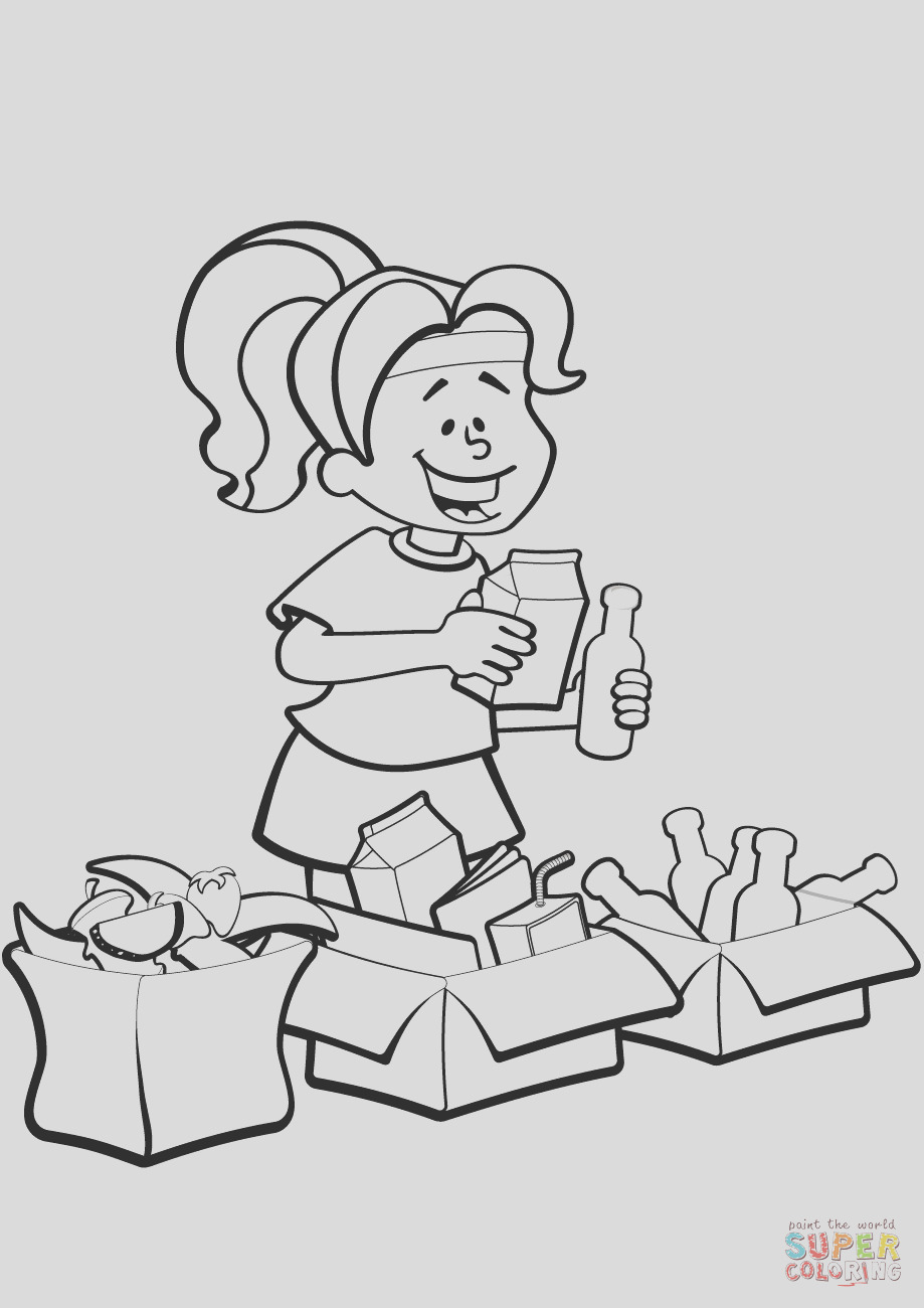 woman is sorting garbage for recycling