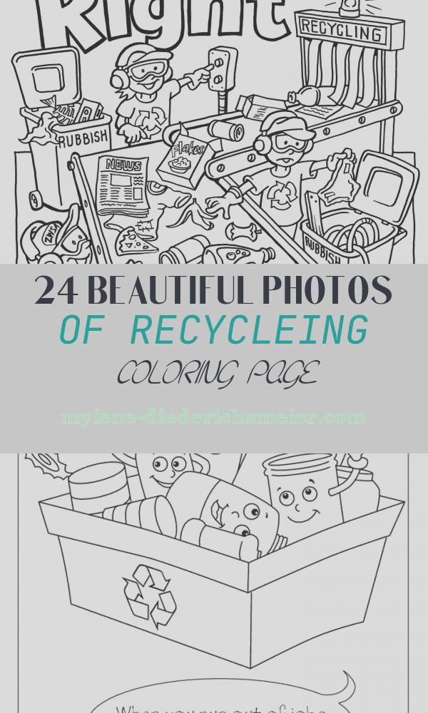 Recycleing Coloring Page Unique Teaching Kids About Recycling