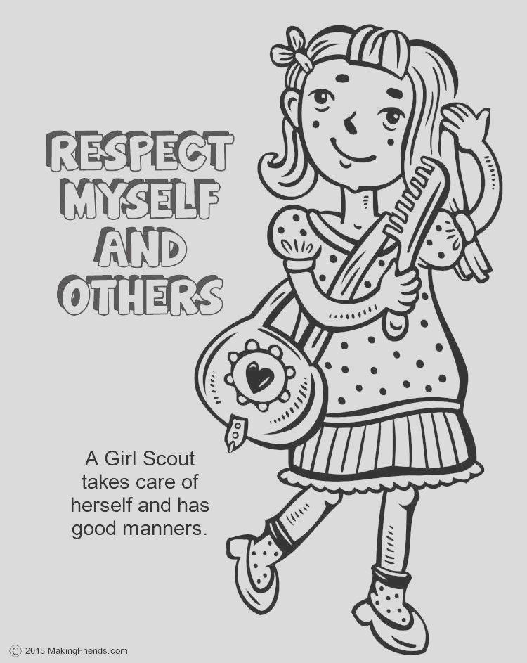 free printable coloring pages on respect