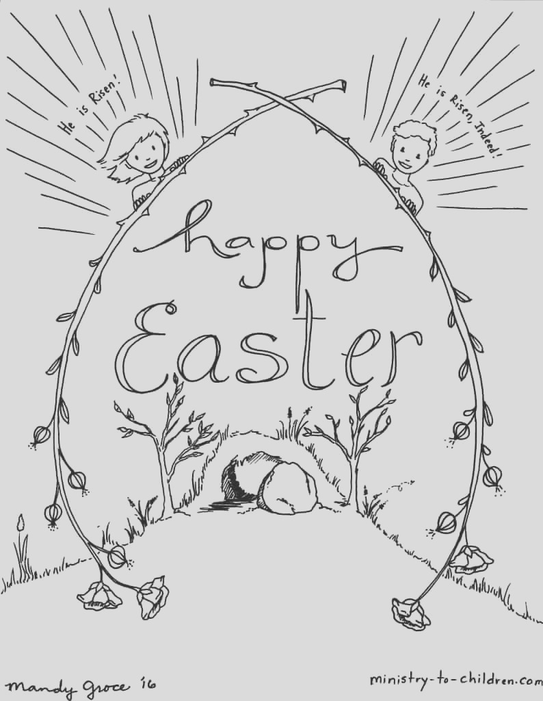 kids easter coloring sheets