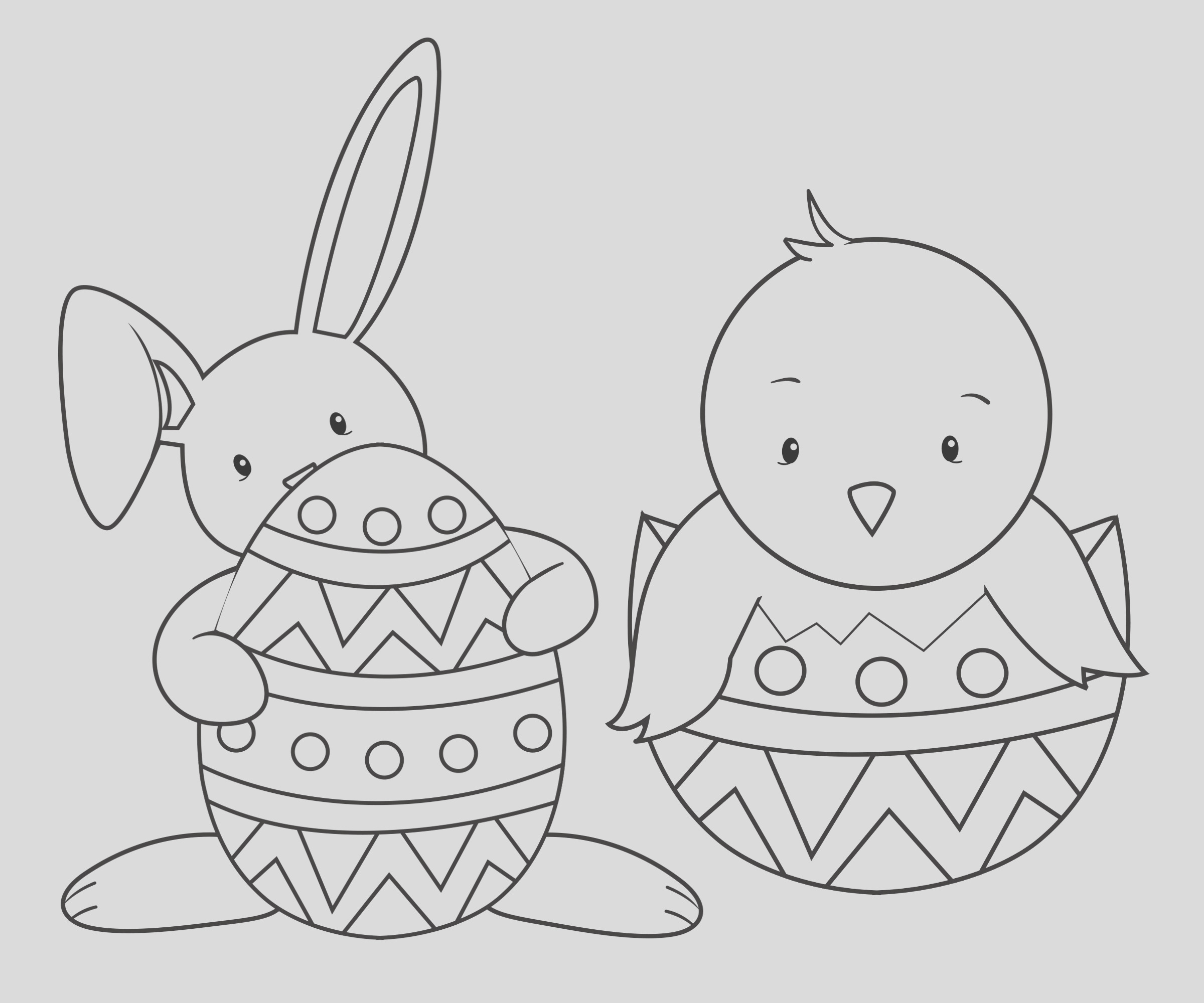 15 easter colouring pages