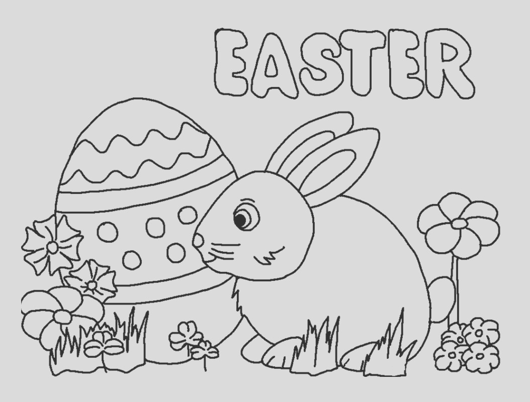 happy easter coloring pages kids