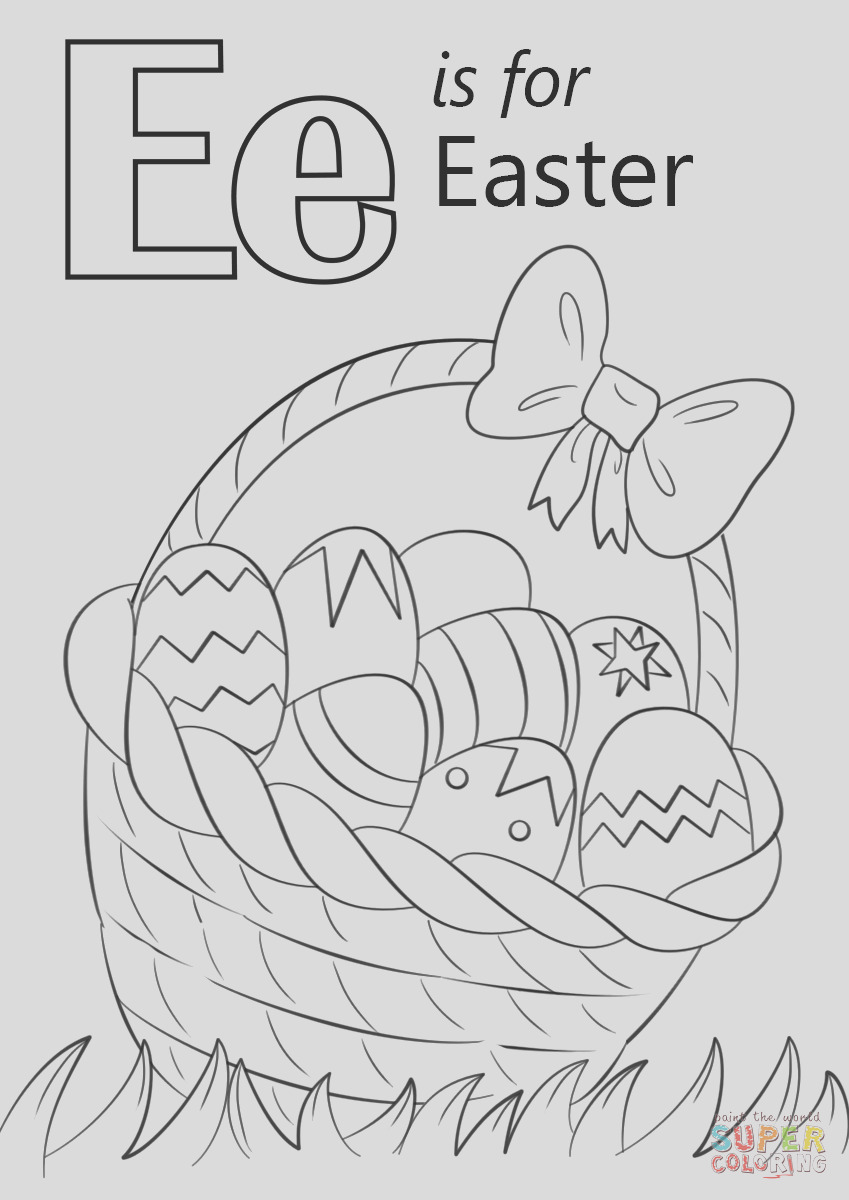 letter e is for easter