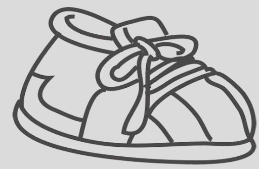 running shoe coloring page