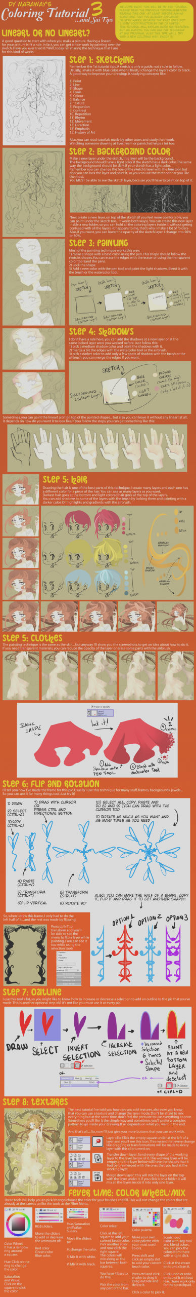 tut sai coloring tutorial and sai tips by