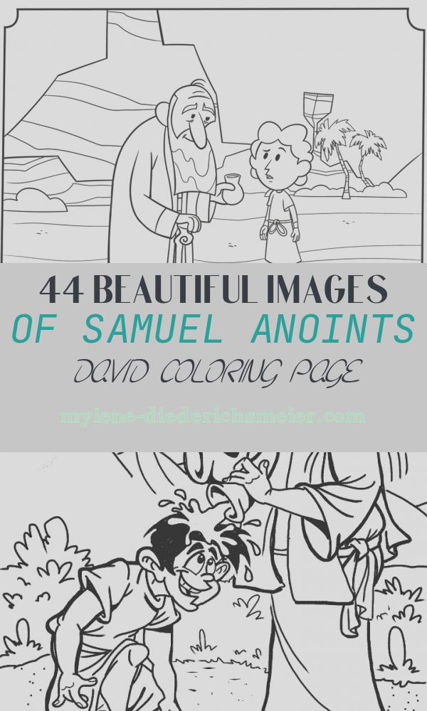 Samuel Anoints David Coloring Page Beautiful Samuel Anoints David Bible Coloring Pages