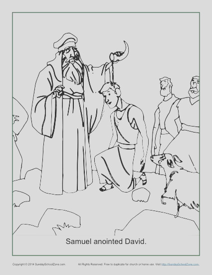 samuel anointed david coloring page