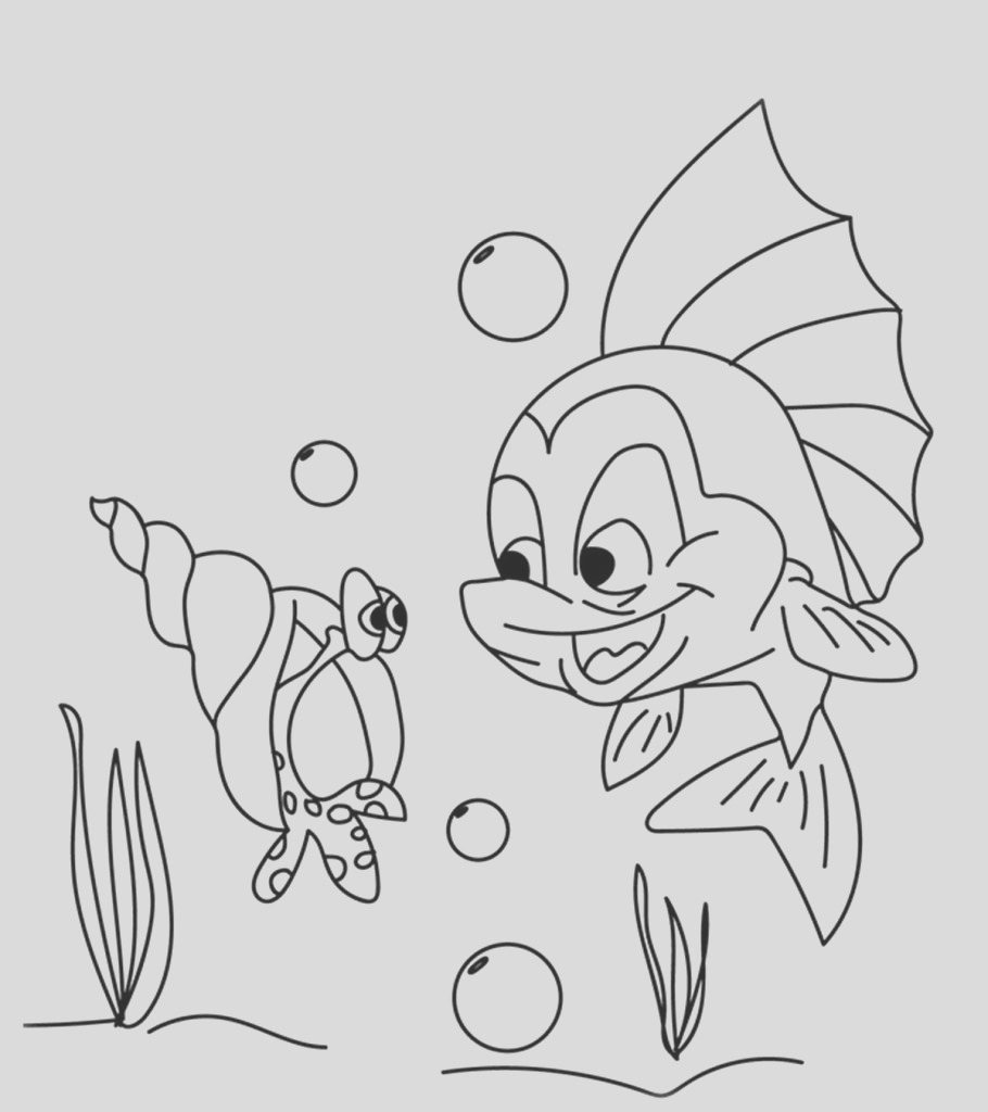 interesting shell coloring pages little ones