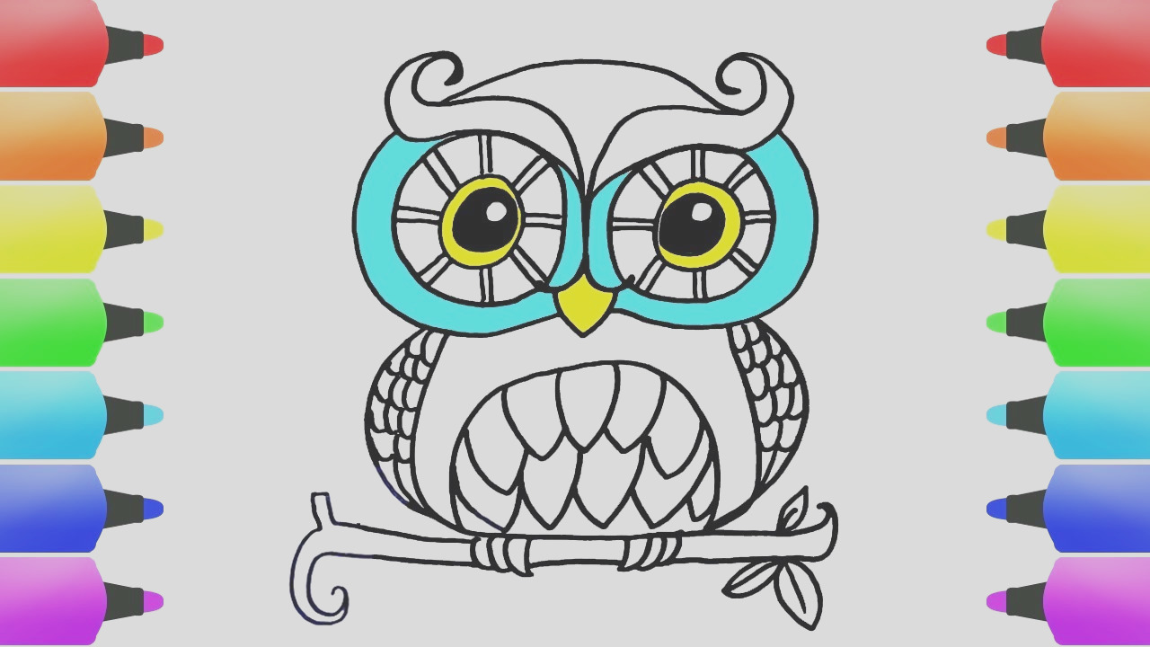 how to draw animals easy coloring pages for kids cute simple