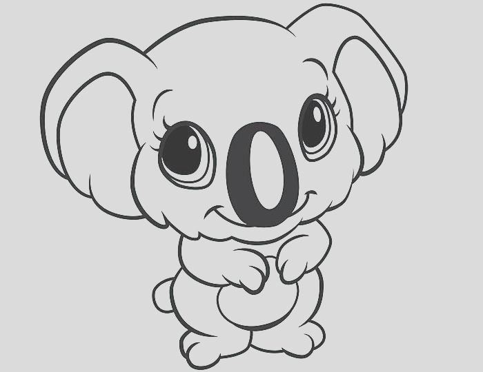 easy animal coloring pages