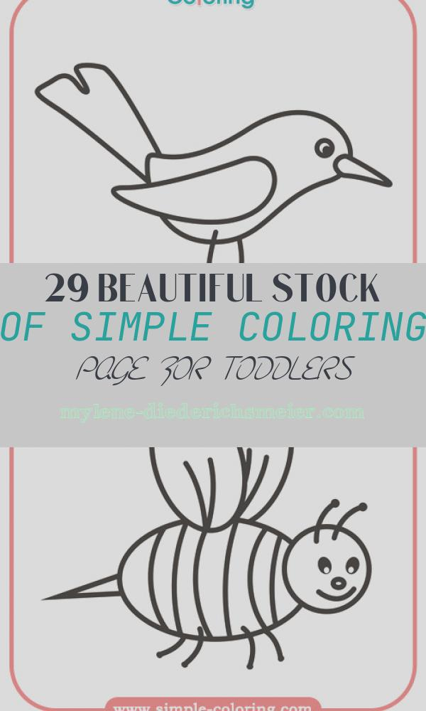 Simple Coloring Page for toddlers Luxury Simple Coloring Animals